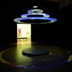 Lichtinstallation im Leopold Museum